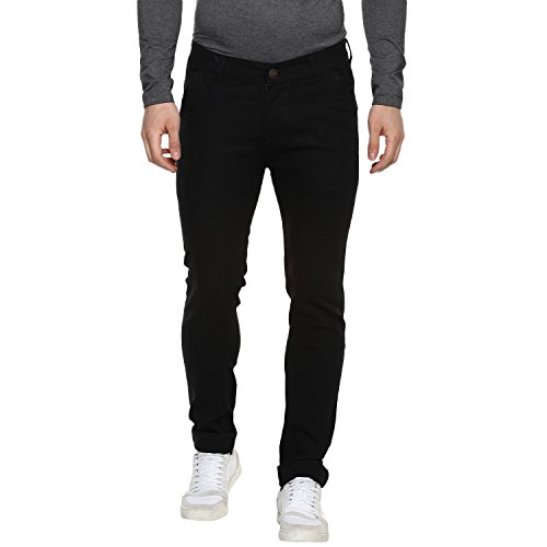 Urbano Fashion Men's Slim Fit Black Stretch Jeans (eps-black-32-07)