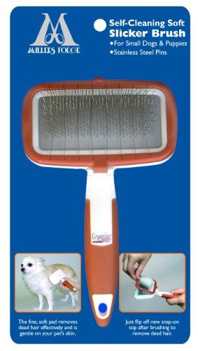 Millers Forge selbst Reinigung Soft Zupfbürste für Kleine Hunde und Welpen