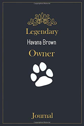 Legendary Havana Brown Owner Journal: A classy black, gold and white Havana Brown Lined Journal for Cat owner notes.