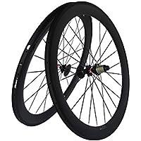 Flyxii 3 K carbono mate para bicicleta de carretera (Clincher wheelset 60 mm Wheel Rim