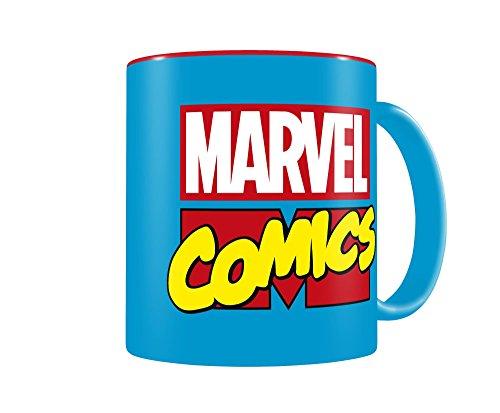SD Toys Marvel Comics Taza, Cerámica, Azul y Rojo, 8 cm