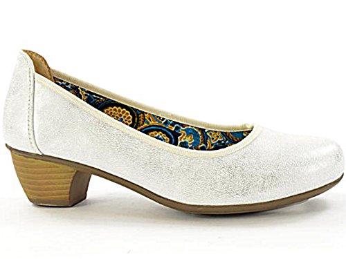 Foster Footwear - Scarpe con Tacco da ragazza' donna Mottled White