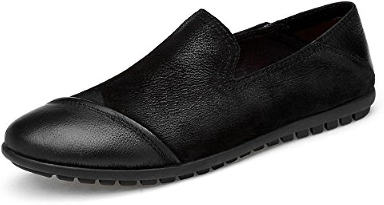 Zapatos Simples de Hombres Salvajes para Limpiar la Primera Capa de Zapatos Casuales de Cuero