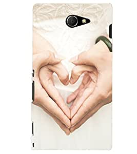 PRINTSHOPPII HEART SIGN Back Case Cover for Sony Xperia M2 Dual D2302::Sony Xperia M2