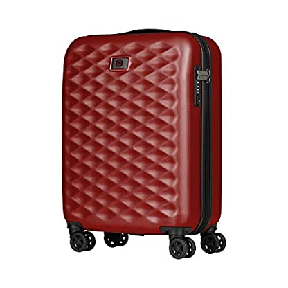 Wenger Lumen 20″ Hardside Luggage Global Carry-On – Rojo Maleta, 54 cm, 32 Liters