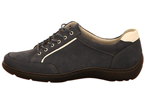 Waldläufer  496013, Chaussures de ville à lacets pour femme Bleu