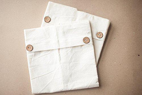 Noyyal Go Green (Elephant) Reusable Cotton Silk Saree Covers, Set of 10, NGG-SAREEBAG-002