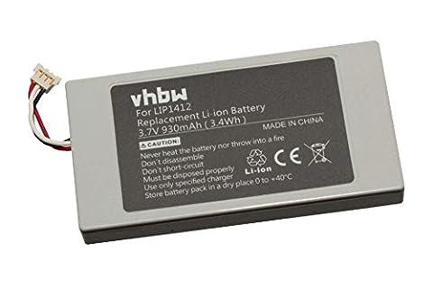 vhbw Li-Ion Akku 930mAh (3.7V) für Spiele Konsole Sony Playstation Portable Go, PSP Go, PSP-N100, PSP-NA1006, PSP-N1001 wie 4-000-597-01,