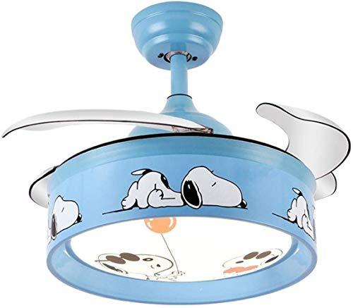 Spider-Hängeleuchten, LED Deckenventilator Spinne, Raum unsichtbare Kinder Moderne Minimalist Schlaf- / Wohnzimmer/Esszimmer/Deckenbeleuchtung 36W * 2 Lampendimmen,Wandsteuerung -