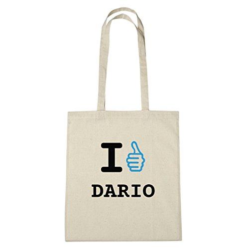 JOllify Dario di cotone felpato b5256 schwarz: New York, London, Paris, Tokyo natur: I like - Ich mag
