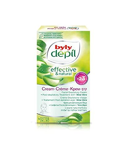 byly Laboratories Spain Hair removal Mint and Green Tea Turbo Depilatory Face Cream