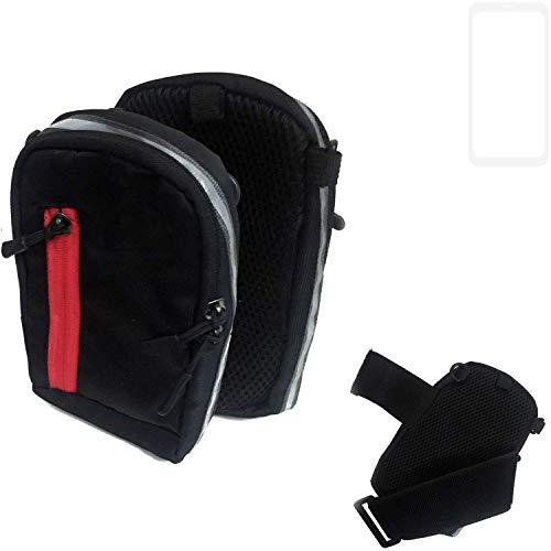 K-S-Trade Outdoor Gürteltasche Umhängetasche für Vestel V3 5580 Dual-SIM schwarz Handytasche Case travelbag Schutzhülle Handyhülle