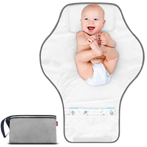 Morrols Cambiador portátil, cambiador de pañales impermeable bebé,Ligero y duradero...