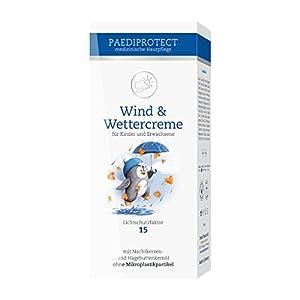 PAEDIPROTECT Wind & Wetter Creme für Babys, Kinder und Erwachsene (1x75ml) mit Lichtschutzfaktor 15