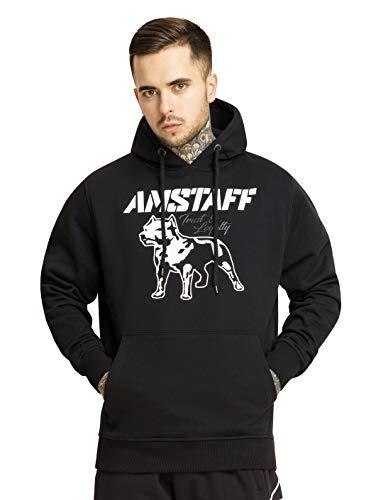 Amstaff Logo Männer Kapuzen Pullover Sweater Jacke Freitzeit Hoodie Hoodie Schwarz 2.0 L