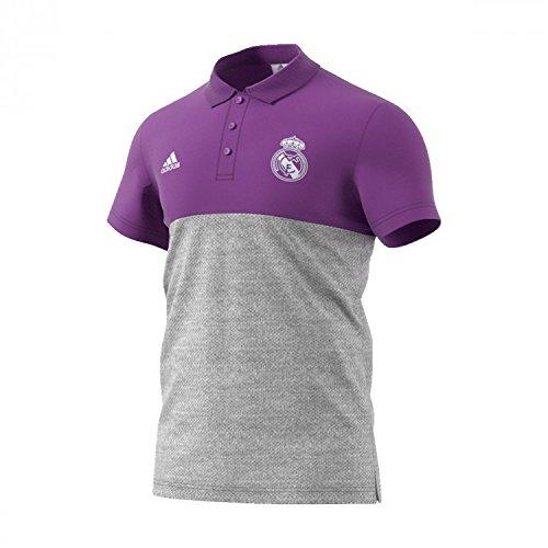 adidas Ssp Polo Línea Real Madrid Cf, Hombre, Morado (Vioray / Brgrin), XL