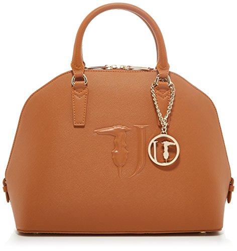 Trussardi Jeans Ischia Ecoleather Dome Bag, Sacs portés main femme, Marron (Cuoio P17), 38x38x16 cm (W x H L)