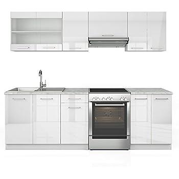Serina küchenzeile 240 cm 7 schrank module frei kombinierbar küche küchenblock einbauküche