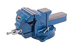 Robuster Schraubstock 100/125/150 mm für Werkbank 360° drehbar (Spannweite 155 mm, Gewicht 12 Kg)