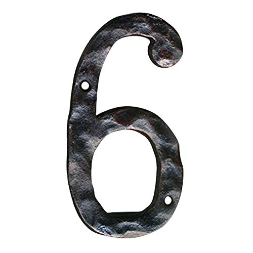 "NACH js-rusticnumber-6 Hausnummern, Rustikales Gusseisen, 6\"""