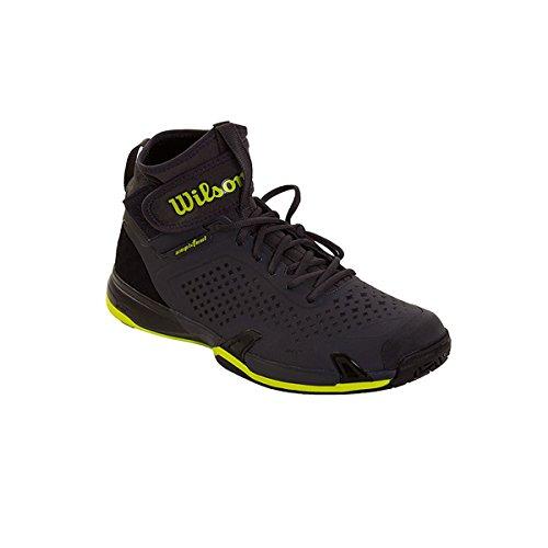 Wilson Wrs3228, Scarpe da Tennis Uomo, Grigio (Ebony / Black / Lime Punch), 43 1/3 EU