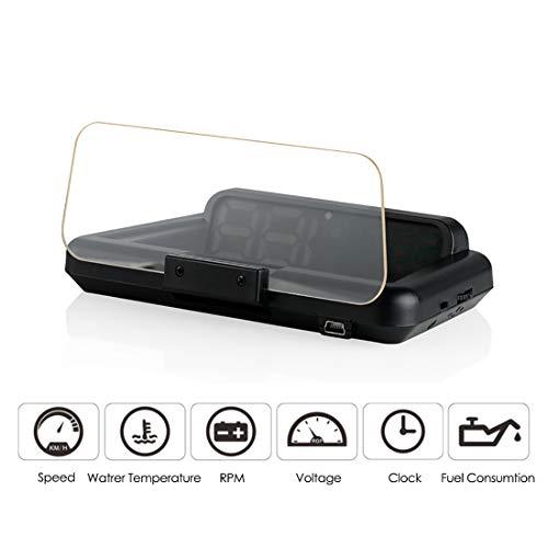 DONGMAO Head Up Display T900 Automóvil HUD GPS Velocímetro