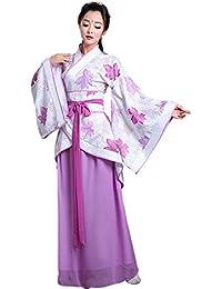 ZEVONDA Mujer Clásico Traje Tang Antiguo Ropa Tradicional de Estilo Chino Vestido Hanfu Disfraz de Cosplay