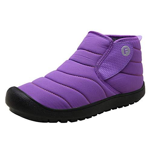 NMERWT Damen Männer Stiefel Warme Outdoor Sportschuhe Wasserdicht Schnee Baumwollstiefel Frauen Lässige Anti-Rutsch Stiefeletten Draussen Schuhe