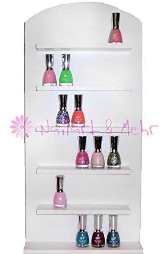 nail-polish-display-wall-board-with-6-shelves-white-60-cm-tall-x-285-cm-wide-x-7-cm-deep
