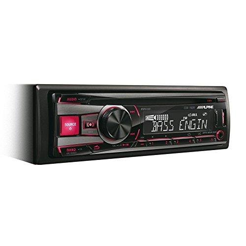 Alpine CDE-192E Autoradio 4 canaux de sortie, bandes FM, LW et MW(87,5 à 108 MHz, 531 à 1602 kHz, 153 à 281 kHz), écran LCD à une ligne d'affichage