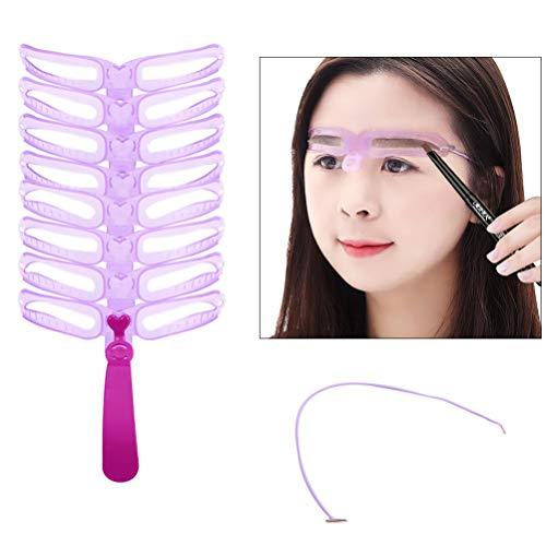 Augenbraue Schablone, DIY Augenbraue Schablonen Schablonen Berufsmakeup Pflegen Zeichnung Beauty Tools Augenbrauen für Mädchen und Frau