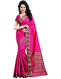 Vatsla Enterprise Women's Cotton Silk Saree (VRSTM004PINK_PINK)