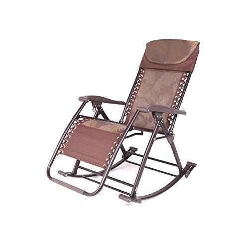 MUMA Chaises longues L-122 Chaise De Loisirs Chaise Pliante Chaise À Bascule Fauteuils Inclinables S'asseoir Chaises Chaise de loisirs (Couleur : Marron)