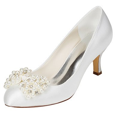 Zormey Women'S Hochzeit Schuhe Fr¨¹hling Herbst Club Schuhe Stretch Satin Hochzeit Party & Amp Abends Stiletto Heel Crystal Pearl US8.5 / EU39 / UK6.5 / CN40