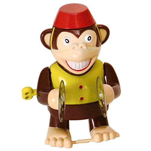 alltoshop Zirkusaffe mit Becken Aufziehfigur - Zirkusaffe mit Becken Aufzieh Figur Wind Up Figur Monkey
