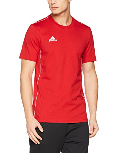 adidas Herren CORE18 Tee T-Shirt, Power red/White, L -