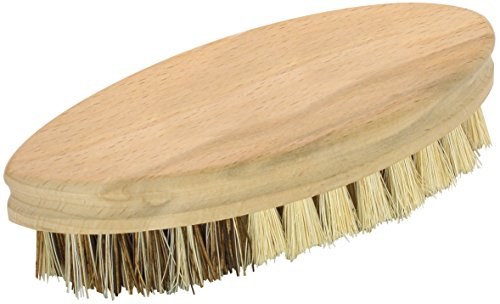 Fackelmann Reinigungsbürste FAIR, Scheuerbürste aus FSC®-zertifizierter Buche, Gemüsebürste mit widerstandsfähigen Borsten (Farbe: Braun), Menge: 1 Stück -