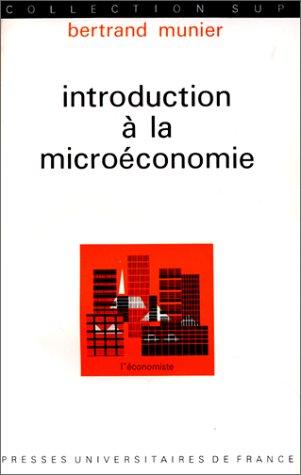 Introduction à la microéconomie, 1ère édition