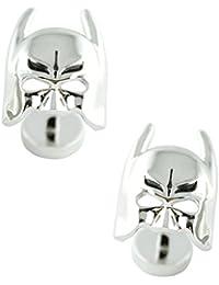 MasGemelos - Gemelos Batman Mascara 3D Plateado Cufflinks