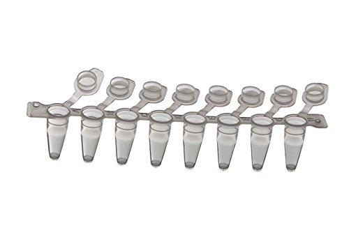 PCR-Streifen mit 8 Röhrchen und mit angebrachter Verschlusskappe, 8x120 Stk.