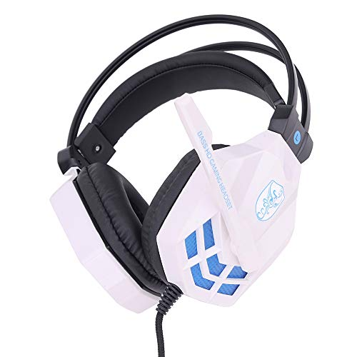 Docooler SOYTO SY850MV Spiel Headset Stereo Eingebaute Soundkarte Kopfhörer mit Mikrofonen LED Wired USB-Schnittstelle Nur Gaming-Ohrhörer für PC Laptop Notebook Desktop Tragbarer Computer