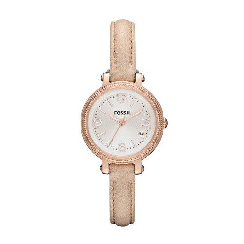 Fossil ES3139 - Reloj de cuarzo para mujer, correa de cuero color marrón