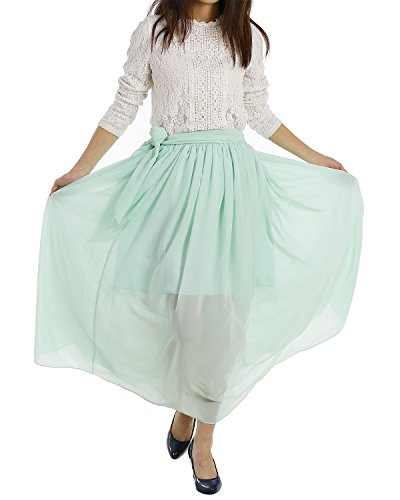 Dresstells jupe en mousseline longueur ras du sol Rouge Foncé