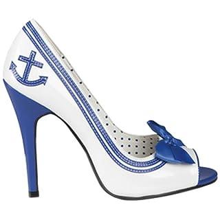 Boland 46332 - Schuhe Navy Matrosin blau - weiß, Größe 38