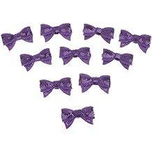 Pajarita Para Camisetas Tela De Lentejuelas Bling Cabrito Del Bebé Del Paño Del Arte DIY Mancha - Purpura, 110 cm * 120 cm / 43.3inch * 47.24inch