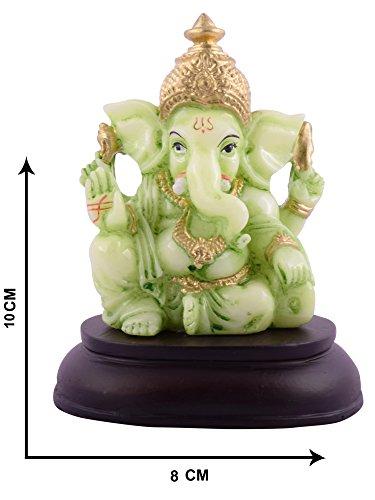 Affaires Radium Glow Ganeshji, Ganesh, Ganpati Murti Idol statua scultura per auto/ufficio decorazione, regalo ideale per la vostra amata g-457 - Scultura Auto