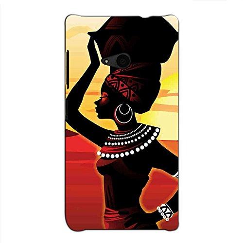 Bluethroat Vector PIC of A Tribal Girl in A Desert Back Case Cover for Microsoft Lumia 535 :: Microsoft Lumia 535 Dual SIM :: Nokia Lumia 535