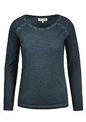 DESIRES Karola Damen Longsleeve Langarmshirt Shirt Mit Rundhalsausschnitt Aus 100% Baumwolle, Größe:M, Farbe:Insignia Blue (1991)