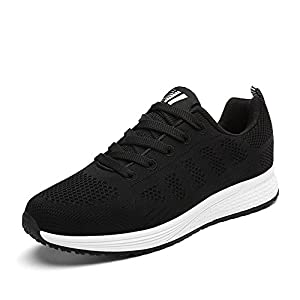 ALI&BOY Damen Gym Laufschuhe Turnschuhe Atmungsaktive Mesh Schnür Schuhe Low Top Sportschuhe