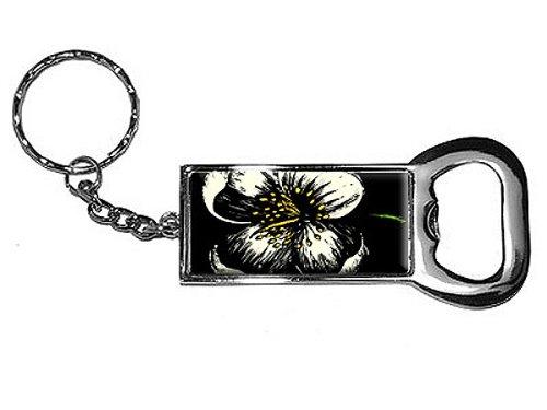 Grafiken und mehr Ring Bottlecap Öffner Schlüssel Kette, Blume Antik Stil (kk0151) (Gepäck Antike)